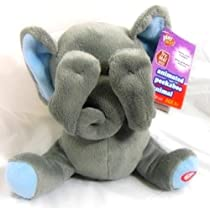 Animated Peek-a-boo Plush Animal, Elephant