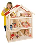 Goki Dollhouse, 3 floors, wood goki-51957