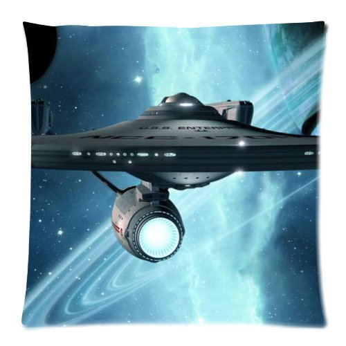 Cartrol Cotton & Polyester Custom Pillowcase- Star Trek Zippered Throw Pillow Cases Cover Cushion Case 18X18 (Two Sides) front-785481