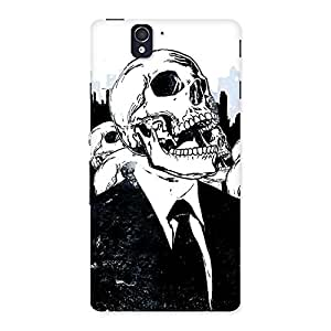 Enticing Skull Laugh Back Case Cover for Sony Xperia Z