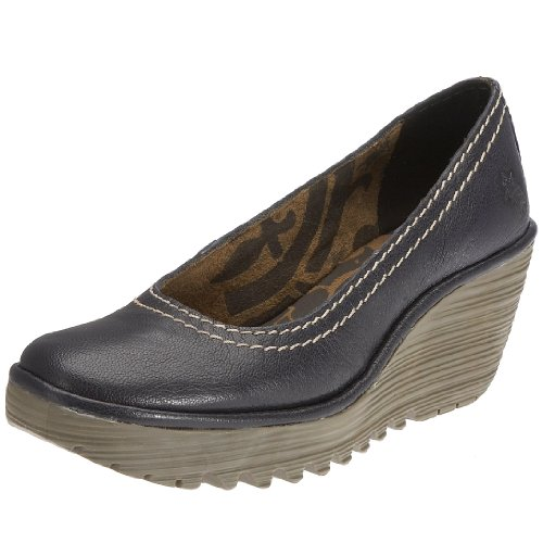 FLY London Women's Yoni Wedge Pump,Navy,37 M EU / 6 B(M) US
