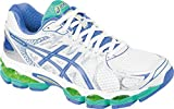 ASICS Womens Gel-Nimbus 16 Running Shoe,White/Periwinkle/Mint,11 M US