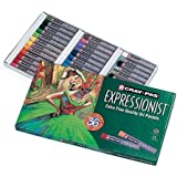 Sakura XLP36 36-Piece Cray-Pas Expressionist Oil Pastel Set, Assorted Color