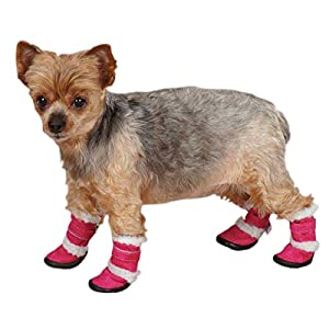 East Side Collection ZA3114 03 75 Sherpa Dog Boot, X-Small, Raspberry