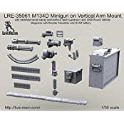 Live Resin 1:35 M134 D Minigun On Vertical Arm Mount Resin #Lre35061