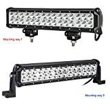 Kohree-145-Inch-90W-CREE-Led-Light-Bar-7800-Lumen-Spot-Beam-Waterproof-IP67-for-Jeep-off-road-Van-Camper-Wagon-ATV-AWD-SUV-4WD-4x4-Pickup-Van-Off-road-Two-Set-of-Mounting-Brackets