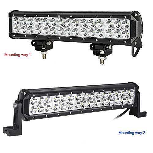 Kohree-145-Inch-90W-CREE-Led-Light-Bar-7800-Lumen-Spot-Beam-Waterproof-IP67-for-Jeep-off-road-Van-Camper-Wagon-ATV-AWD-SUV-4WD-4x4-Pickup-Van-Off-road-Two-Set-of-Mounting-Brackets