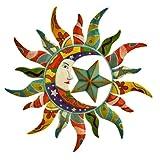 World Best Sun Moon & Stars Metal Wall Hanging Garden Art 24