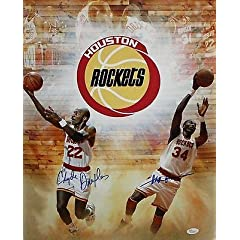 Hakeem Olajuwon Clyde Drexler Autographed 16x20 TB Houston Rockets Photo - JSA... by Sports Memorabilia