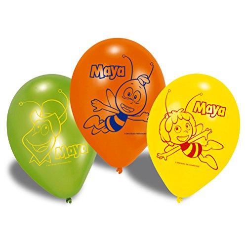 6er Set Luftballon Ballons Biene Maya Maja Willi Flip - 23 cm