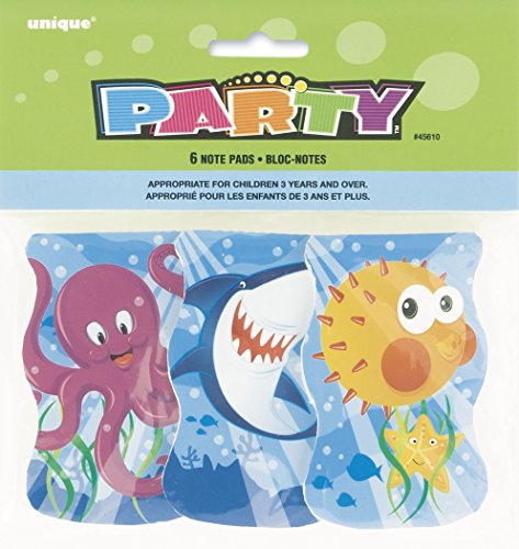 Ocean Friends Notepad Party Favors, Assorted 6ct - 1