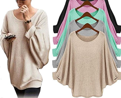 Batwing Long Sleeve Pullover Sweater