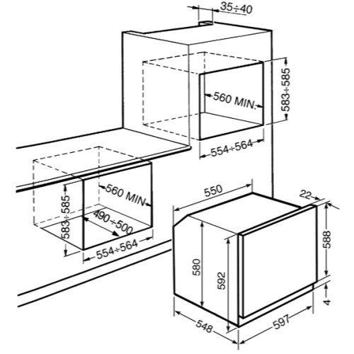 Smeg SF372X Smeg Classic Multifunction Electric Builtin Single Oven