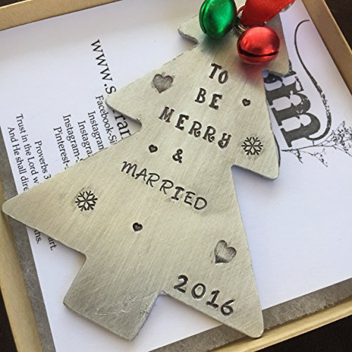 Married Christmas Ornament Tree Shaped Christmas Tree Decoration Newlywed Gift Wedding Gift For Just Married For Newlyweds