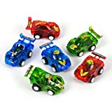 12 Pull Back Racer Cars