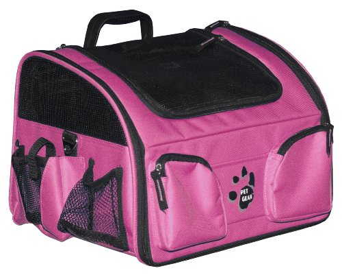 Pet Gear Pet Bike Basket 3-in-1 Car Seat / Carrier / Bike Basket for cats and dogs up to 12-pounds, Pink
