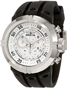 Invicta Men's 0840 I-Force Contender Chronograph White Dial Black Polyurethane Watch