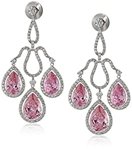 Amazon.com: Charles Winston, S Silver, Pink & White Cubic ...