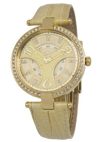 Carlo Monti Vittoria Women's Quartz Watch with Beige Dial Analogue Display and Beige Leather Strap CM501-210