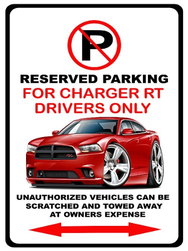 2011-14 Dodge Charger Rt Muscle Car-Toon No Parking Sign
