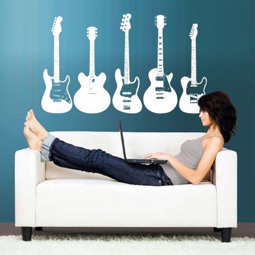 Wall Vinyl Sticker Decals Decor Art Bedroom Design Mural Rock Electric Guitar (Z2779) front-1001475