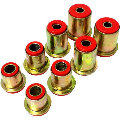 Energy Suspension 3.3105R Control Arms - Energy Suspension Front Control Arm Bushings Control Arm Bushings - Front - Upper - Lower - Polyurethane - Red - Buick - Cadillac - Chevy - Oldsmobile - Pontiac - Kit (1974 Pontiac Trans Am compare prices)