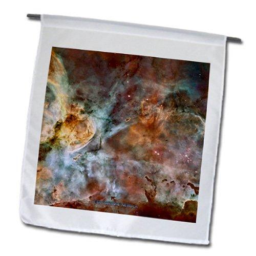 Fl_76816_1 Sandy Mertens Space Gallery - Galaxy And Nebula - Eta Carinae Nebula By Nasa Hubble Telescope - Flags - 12 X 18 Inch Garden Flag