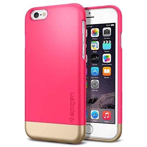 iPhone 6 ケース Spigen [内面二重構造] スタイル アーマー Apple iPhone 4.7 (2014) The New iPhone アイフォン6 (国内正規品) (アザレア・ピンク SGP11045)