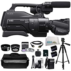 Sony HXR-MC2000 Shoulder Mount AVCHD Camcorder + Huge SSE Accessories Bundle Including .45x Wide Angle Lens, 2x Telephoto Lens, 3 Piece Multi-Coated Filter Kit, 8GB SD Memory Card, USB Memory Card Reader, HDMI Cable, 2 Extended Life Replacement Batteries,