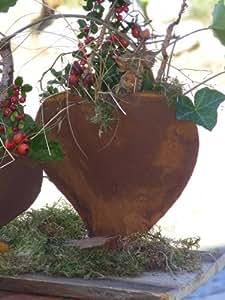 Herz zum bepflanzen edelrost rost herz metall for Gartendeko rost herz