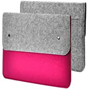 "Unik Case Felt Hot Pink Laptop Sleeve Bag Case Cover For All 13"" 13-Inch Laptop Notebook / Macbook Pro / Macbook..."