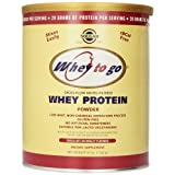 Solgar Whey To Go Whey Protein Powder Natural Chocolate Flavour 41 oz (1162 g) Comparison-image