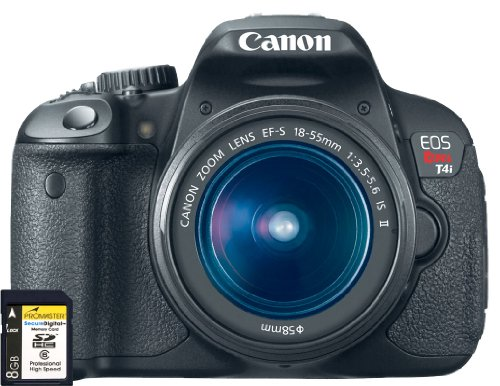 Canon EOS Rebel T4i Kit 18-Megapixel Digital SLR with EF-S 18-55mm IS II Lens with 8GB SDHC Memory Card