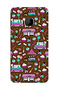 ZAPCASE PRINTED BACK COVER FOR HTC ONE M9 - Multicolor