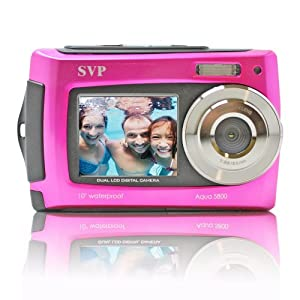 SVP Aqua 5800 Pink 18MP Dual Screen Waterproof Digital Camera