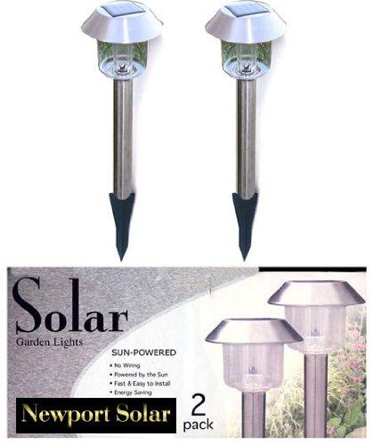 12 Stainless Steel Solar Landscape Lights Lightings 2 Leds