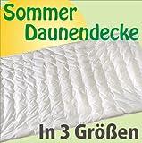 Sommer Daunendecke Punktstepp 90% Daunen 200x200 cm - Wärmestufe 2 Leicht