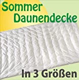 Sommer Daunendecke Punktstepp 60% Daunen 135x200 cm - Wärmestufe 1 Sehr leicht