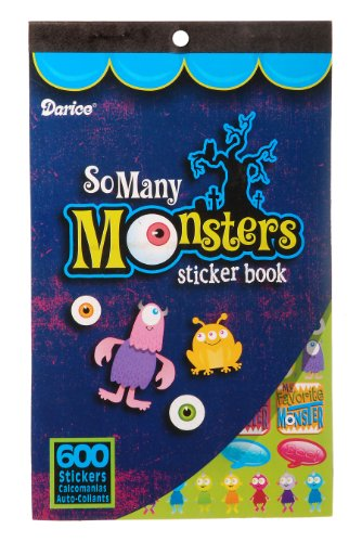 WeGlow International So Many Monsters Sticker Book, 4 Books