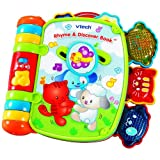 Open a page to learning with the Rhyme & Discover Book by Vtech! The Rhyme & Discover Book combines rhythm and rhyme with seven nursery favorites. Baby will delight in the fun melodies, magical moving play, three light up characters and open ended qu...