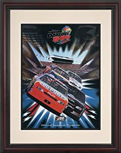 NASCAR Framed 8.5 x 11 Daytona 500 Program Print Race Year: 42nd Annual - 2000 by Mounted Memories