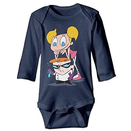 [DELPT Dexter's Lab Fashion Infant Baby's Climb Jumpsuit 6 M Navy] (Dexter Lab Costume)