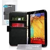 Samsung Galaxy Note 3 Tasche Schwarz PU Leder Brieftasche H�lle