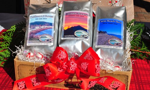 Camano Island Coffee Roasters Organic Shade Grown Fairly Traded Coffee Sampler Box – Coffee Gift Box (3 Full 12oz Bags of Coffee in Gift Bags with Camano Island, WA Scenes).