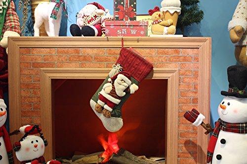Moonmini-3D-Weihnachten-Deko-Geschenk-Verpackung-Socken-Dekoration-Gro-Hngend-Sack-zum-Befllen-Vintage-Figuren-zum-Aufhngen-Weihnachtsmann