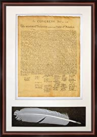 Sale! The Declaration of Independence. High Quality Replica. Professionally Framed (18x 25.5)…
