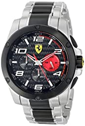Ferrari Men\'s 830032 Analog Display Japanese Quartz Silver Watch