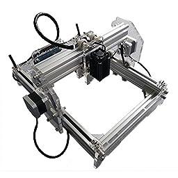 2500 mW Desktop DIY Laser Engraver Engraving Machine CNC Printer aluminium alloy and acrylic Material Size A5