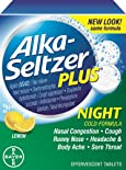 Alka-Seltzer Plus Night-Time Cold, Soothing Lemon, Effervescent Tablets, 20 ct.