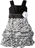 Amy Byer Girls 7-16 Zebra Pickup Dress, Black, 10